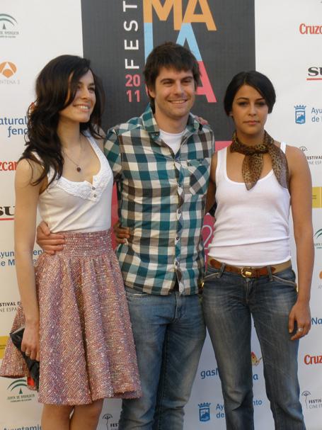 Begoña Maestre, Iban Garate y Sara Casasnovas.
